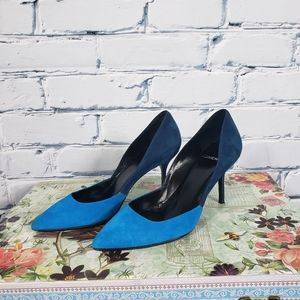 Pierre Hardy Blue Suede Colorblock Pumps